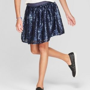 Cat & Jack Dark Blue Sequin Skirt